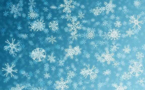 Падающие снежинки на сайт